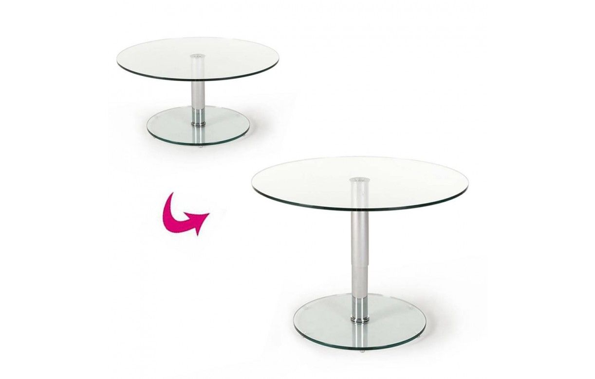table basse relevable en verre tremp berenice. Black Bedroom Furniture Sets. Home Design Ideas