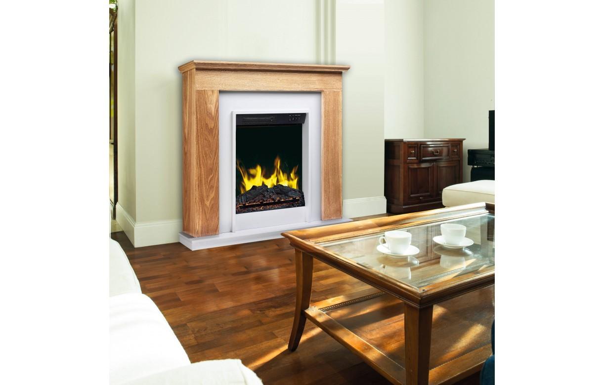 chemin e lectrique chauffage d co bois clair meg ve 2000w. Black Bedroom Furniture Sets. Home Design Ideas