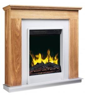 Cheminée électrique chauffage déco bois clair Megève 2000W