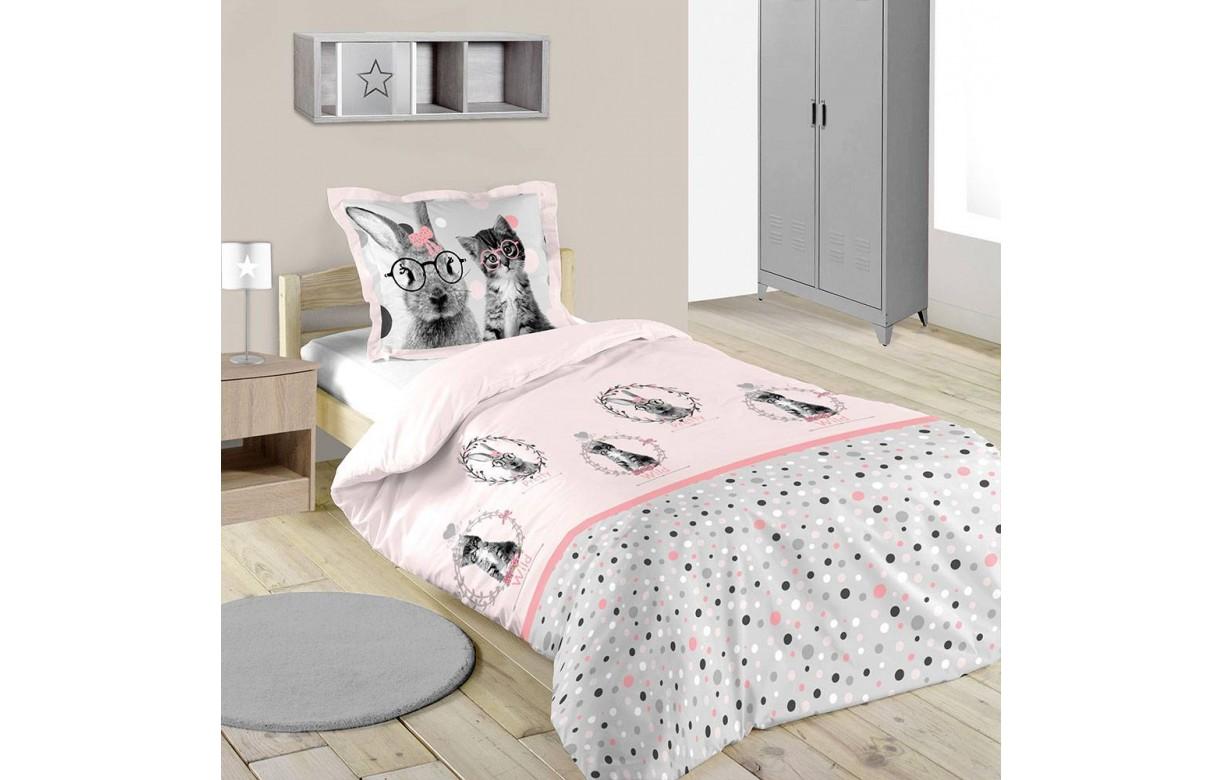 housse de couette 140 x 200 cm 1 taie loovy decome store. Black Bedroom Furniture Sets. Home Design Ideas