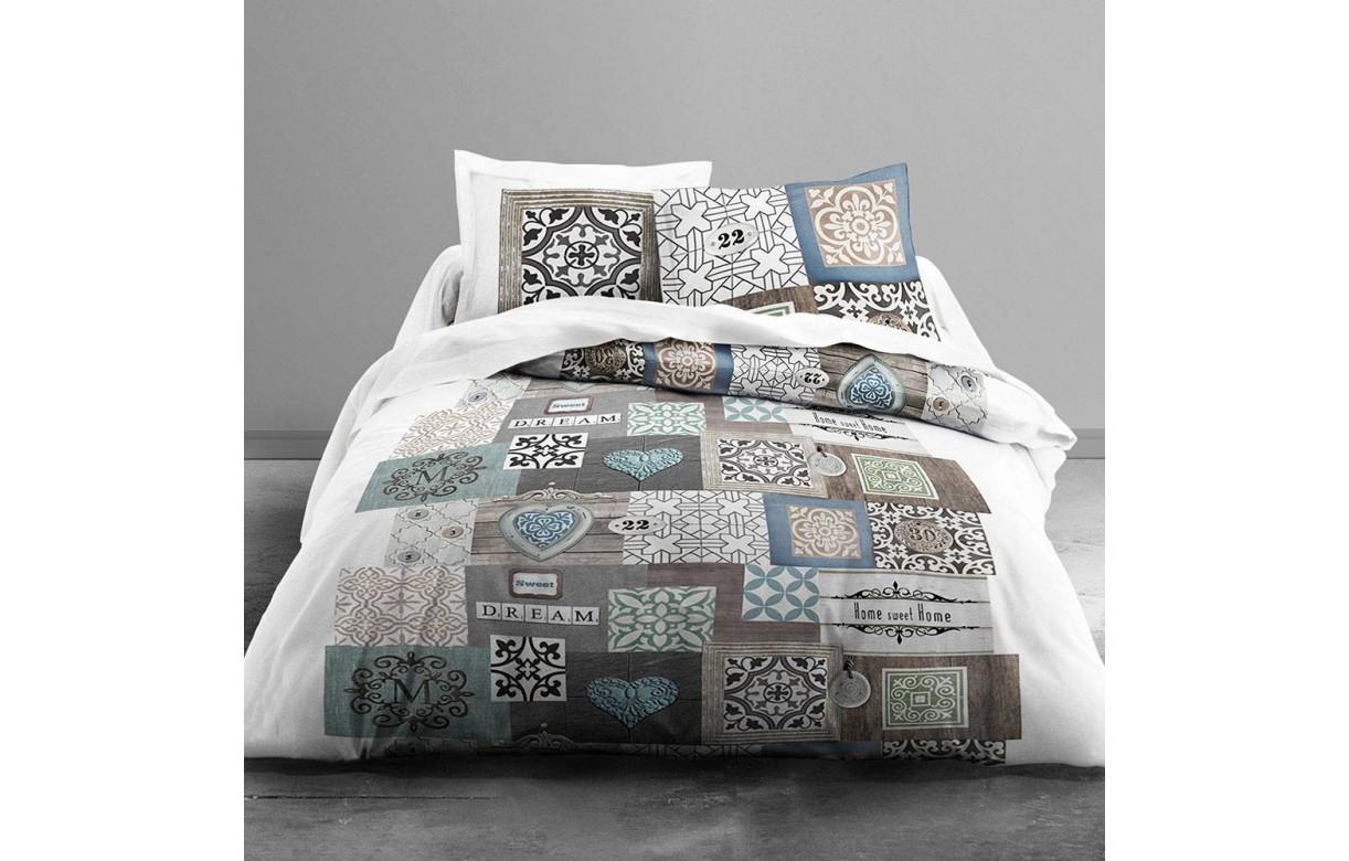 housse de couette 220 x 240 cm 2 taies sweet dream decome store. Black Bedroom Furniture Sets. Home Design Ideas