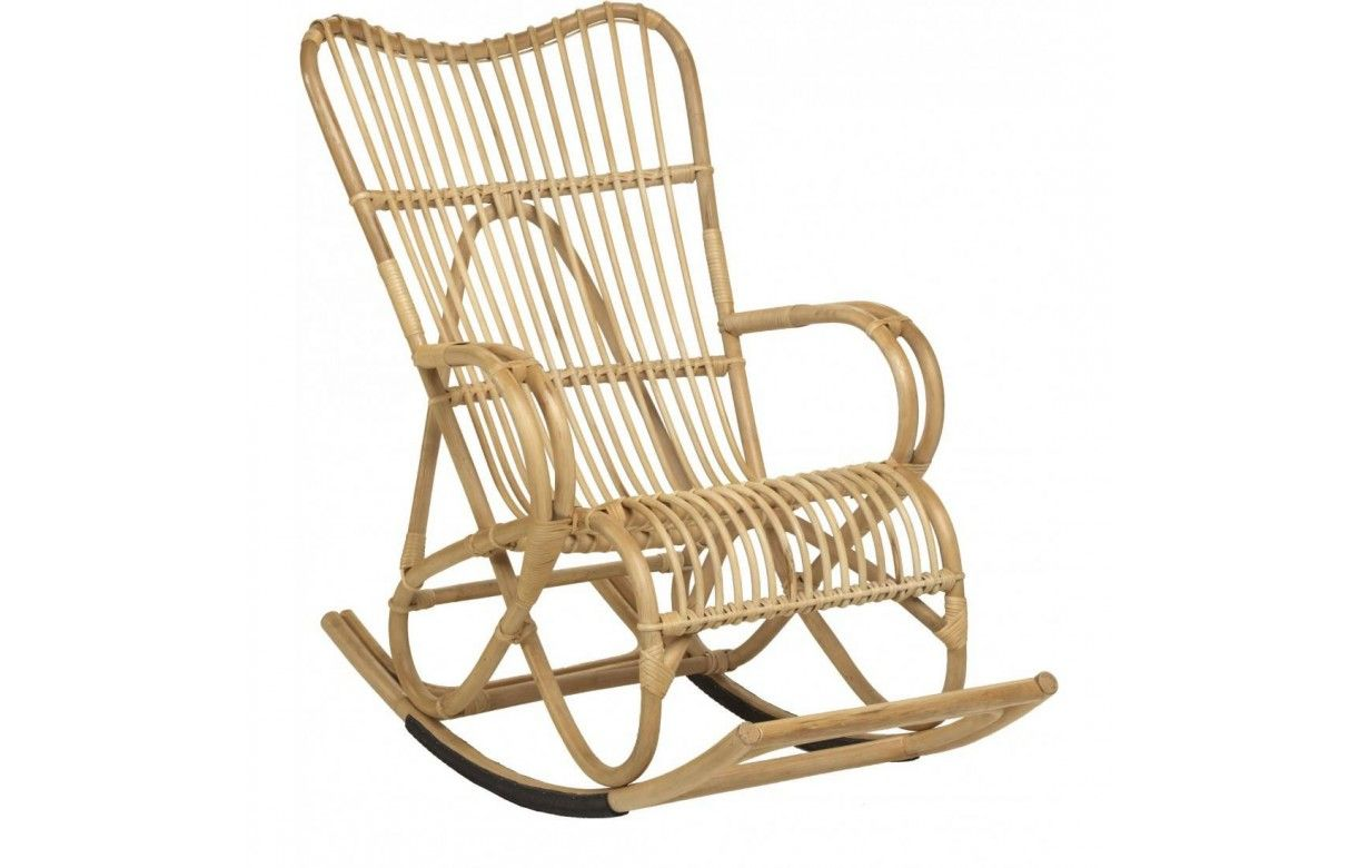 fauteuil rocking chair en rotin naturel marly decome store. Black Bedroom Furniture Sets. Home Design Ideas