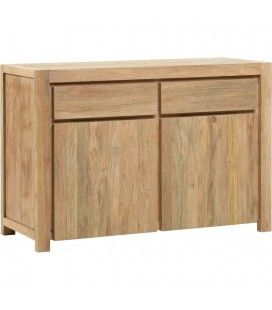 Buffet en bois massif de teck 2 portes 2 tiroirs