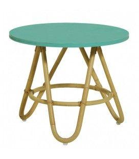 Table basse en rotin Diabolo - 6 coloris