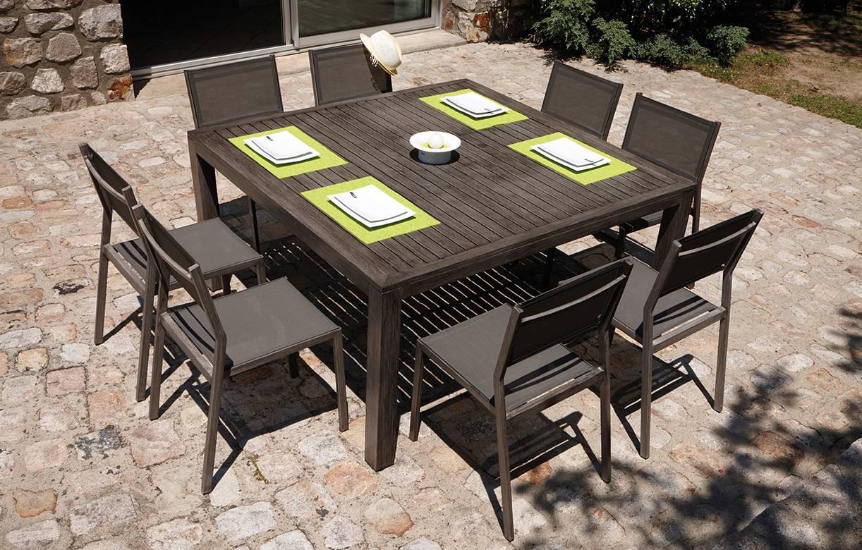 Table De Jardin Rallonge Int Gr E Effet Bois 6 Chaises