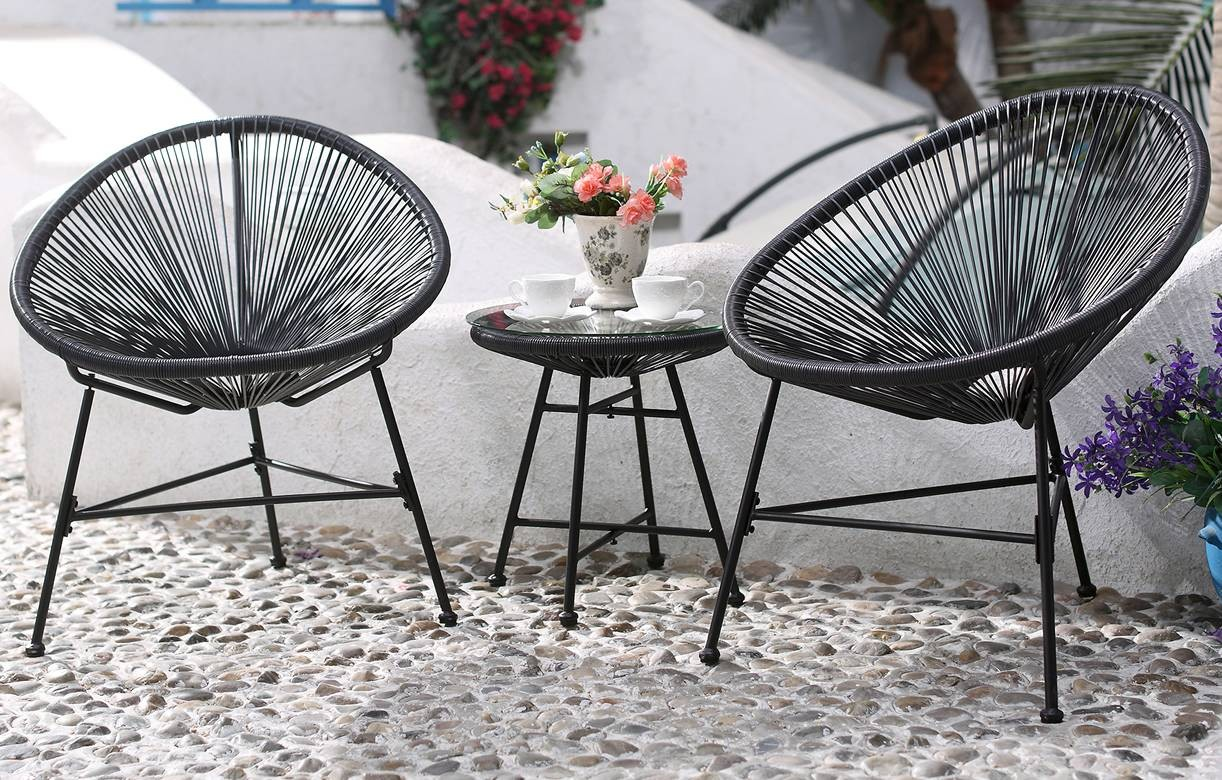 Awesome salon de jardin metal noir ideas awesome - Salon de jardin metal ...