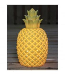 Lampe Ananas coloris jaune en porcelaine 30cm
