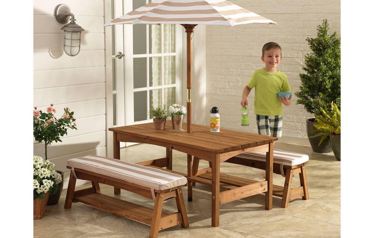 ensemble de jardin complet blanc et beige kidkraft 00500. Black Bedroom Furniture Sets. Home Design Ideas