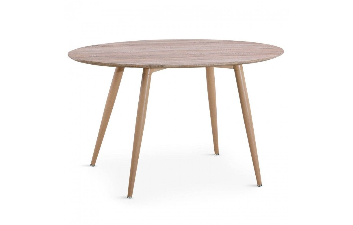 Table ovale bois ch ne clair style scandinave for Table bois clair scandinave