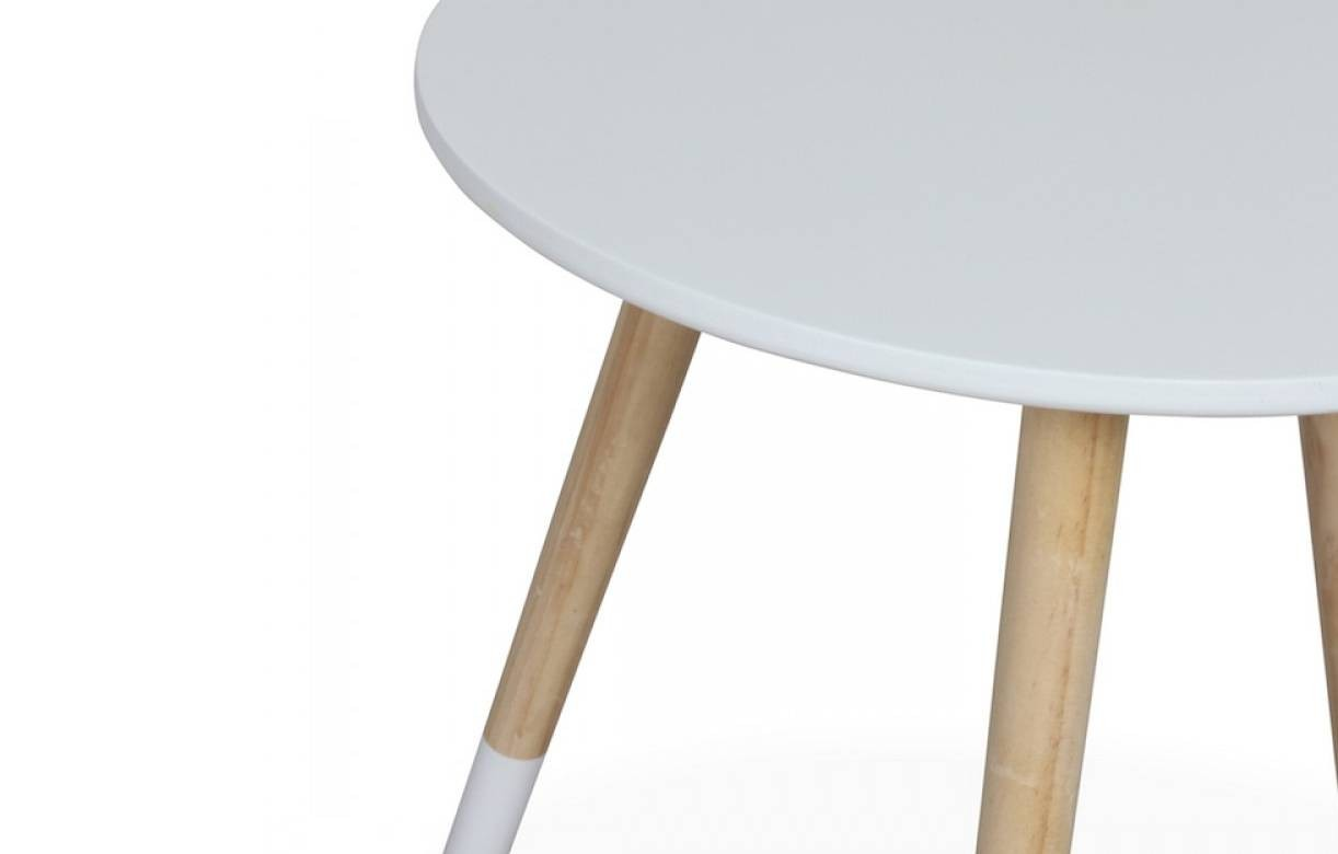Petite table basse ronde scandinave h40cm 4 coloris Table basse ronde scandinave