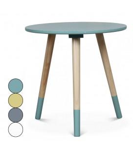 Petite table basse ronde scandinave H40cm - 4 coloris