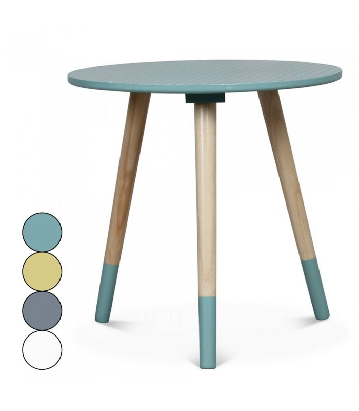 Petite table basse ronde scandinave h40cm 4 coloris for Petite table basse scandinave