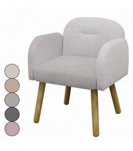 Chaise fauteuil design scandinave en tissu Hans