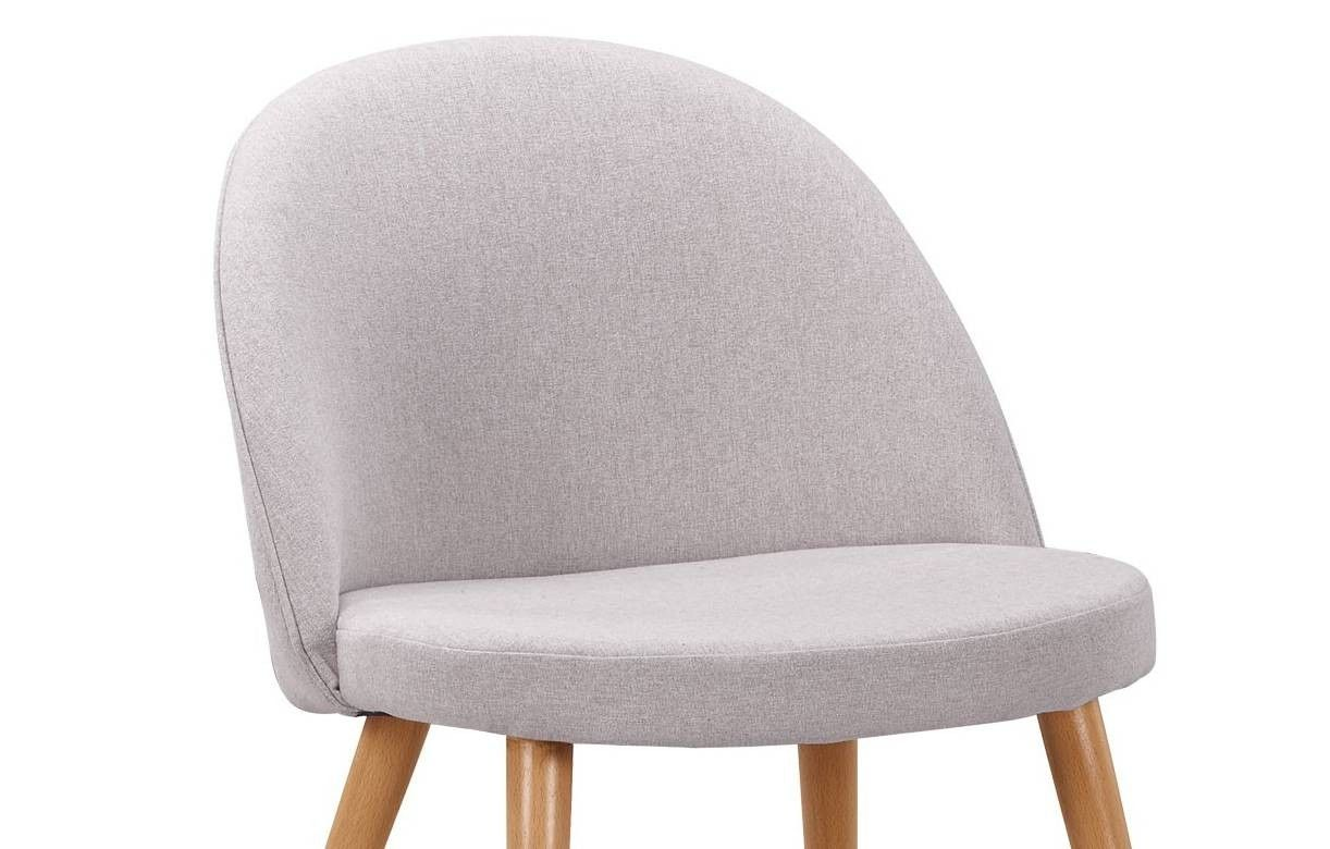chaise scandinave en tissu jaune dossier bas lot de 4. Black Bedroom Furniture Sets. Home Design Ideas