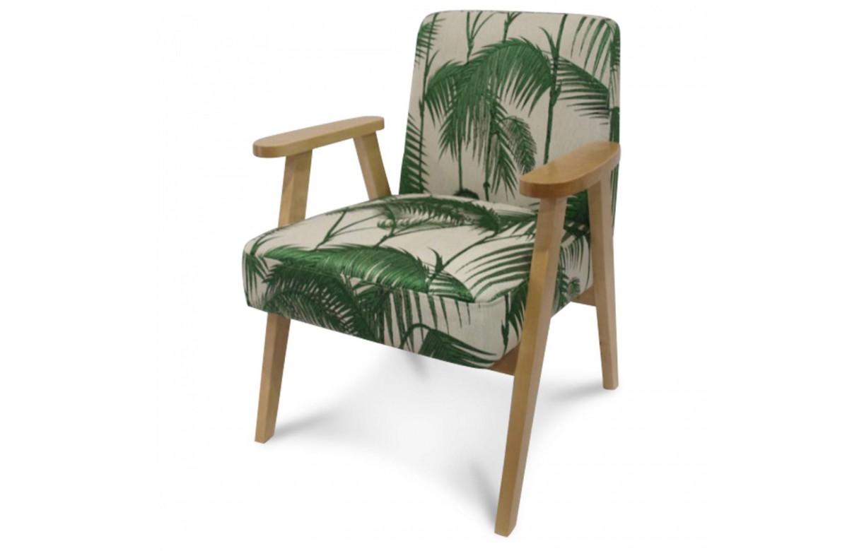 Fauteuil scandinave bois et vert exotique astrid - Fauteuil en bois exotique ...