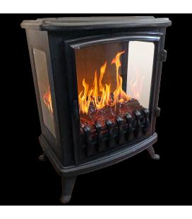 Foyer cheminée électrique noire flamme 3D Fire GLass