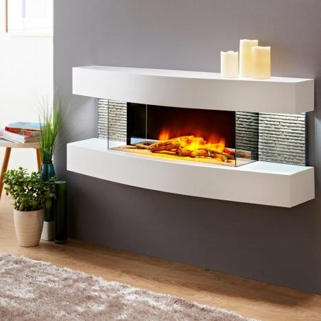 chemin e lectrique murale design lounge cheminarte. Black Bedroom Furniture Sets. Home Design Ideas