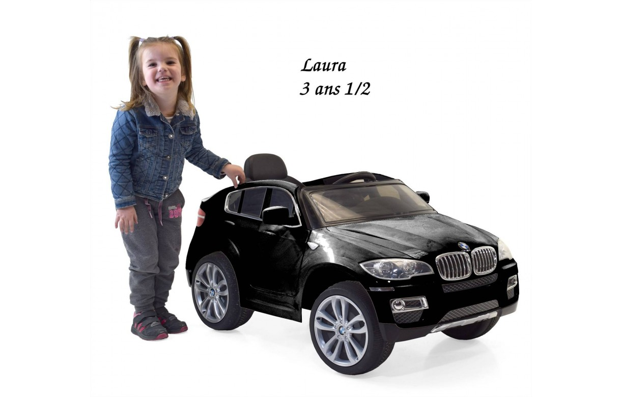 mini voiture 4x4 lectrique enfant bmw x6 noir ou blanc. Black Bedroom Furniture Sets. Home Design Ideas