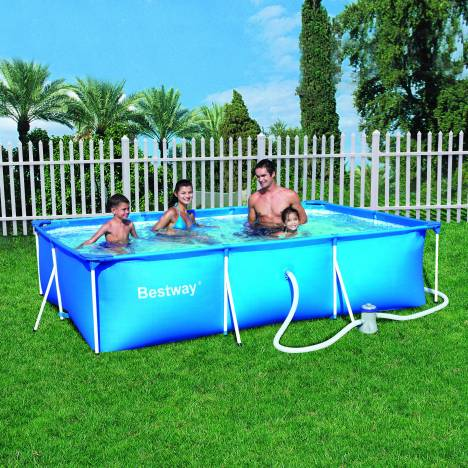 Piscine hors sol rectangulaire bestway 56079 decome store for Piscine rectangulaire bestway