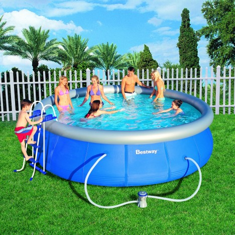Piscine hors sol ronde bestway 57127gs decome store for Piscine hors sol bestway