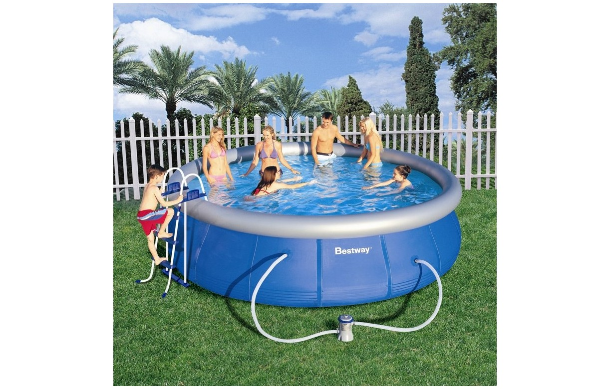 Piscine hors sol ronde bestway 57084 decome store for Piscine hors sol geant casino