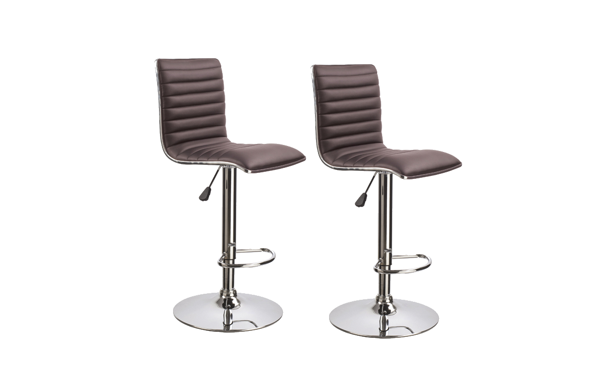 Tabouret de bar en simili cuir r glable set de 2 - Tabouret de bar transparent ...
