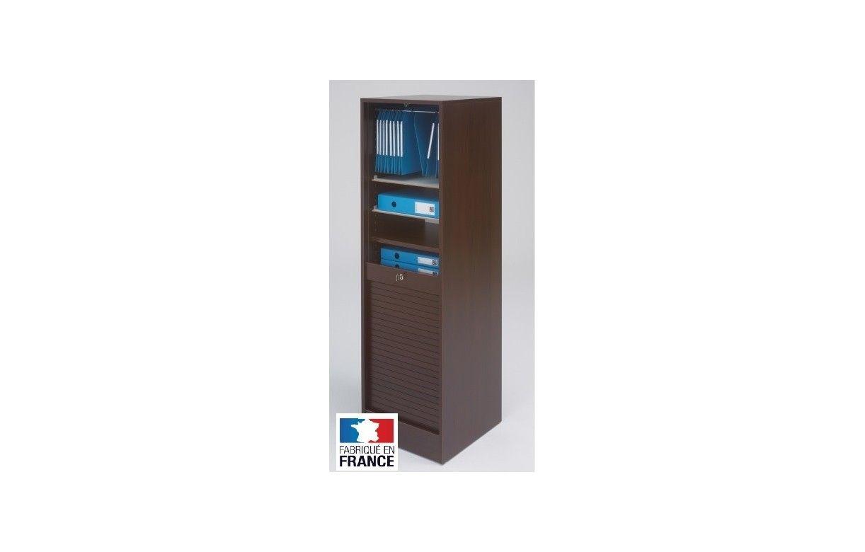 Meuble classeur de bureau rideau 140 cm 6 coloris for Meuble bureau rangement classeur