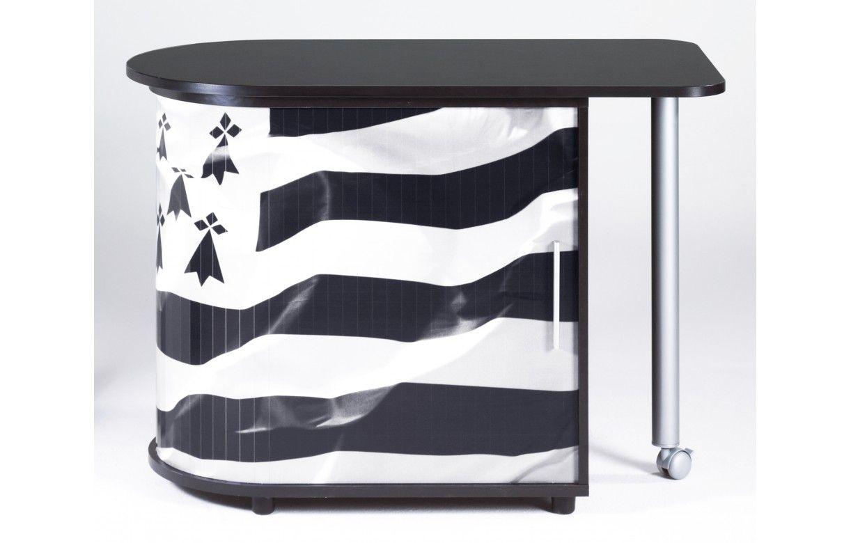 bureau informatique pivotant blanc ou noir breizh decome store. Black Bedroom Furniture Sets. Home Design Ideas
