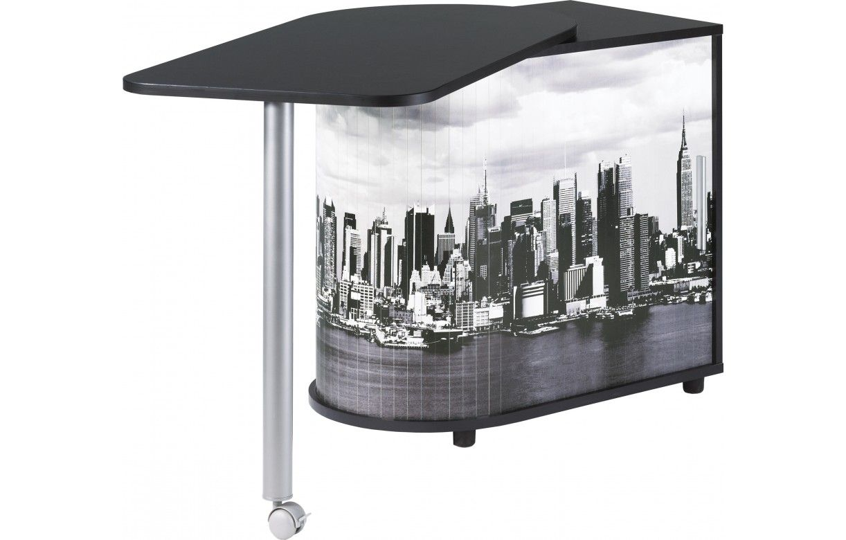 bureau pivotant informatique blanc ou noir new york decome store. Black Bedroom Furniture Sets. Home Design Ideas