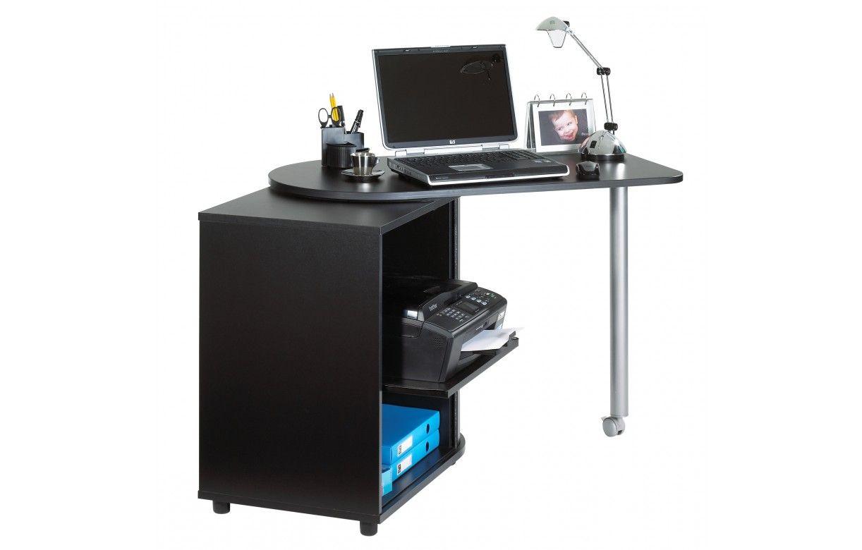 Bureau informatique taupe pivotant 5 coloris  Decome Store