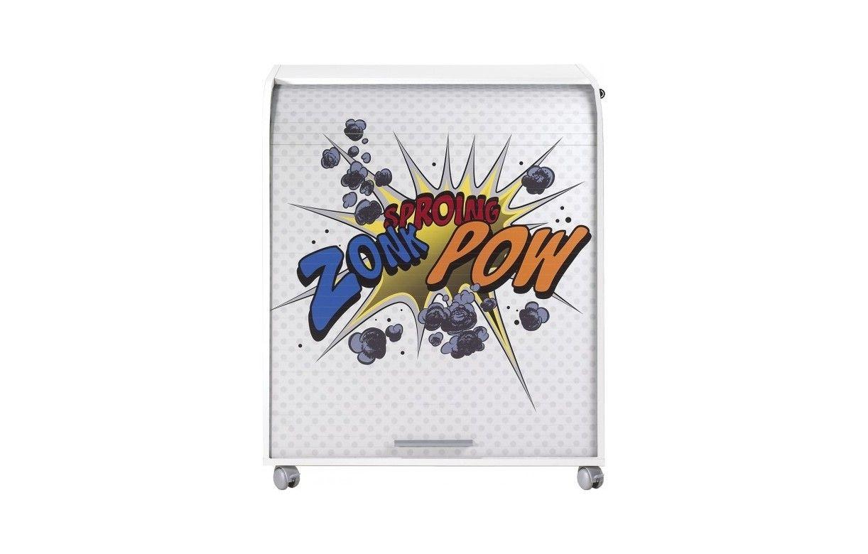 bureau informatique sur roulettes 4 coloris cartoon decome store. Black Bedroom Furniture Sets. Home Design Ideas