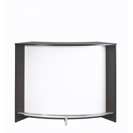 Comptoir de bar noir et blanc design 134cm double porte for Meuble bar comptoir design
