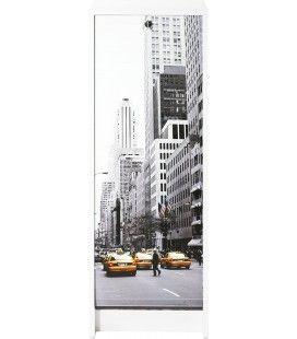 Classeur de rangement à rideau Taxi New York 105 cm - 3 coloris