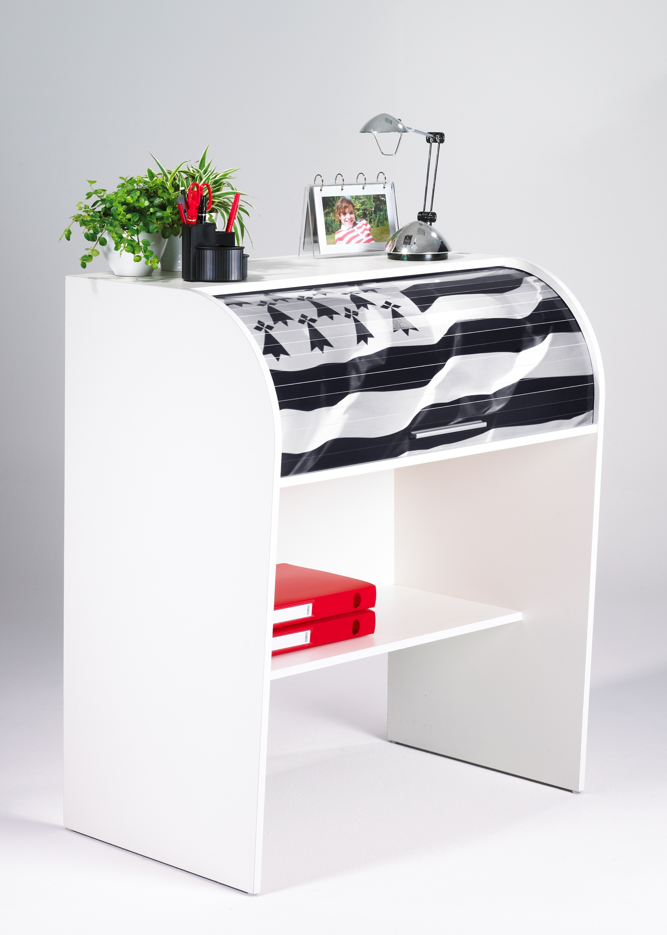 Bureau coulissant lit haut x trio dimix with bureau for Meuble bureau coulissant