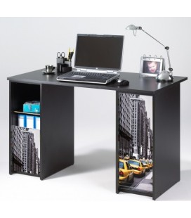 bureau noir avec caissons rideau coulissant new york taxi decome store. Black Bedroom Furniture Sets. Home Design Ideas