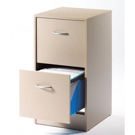 Meuble de bureau pour dossiers suspendus - Caisson 2 tiroirs dossiers suspendus ...