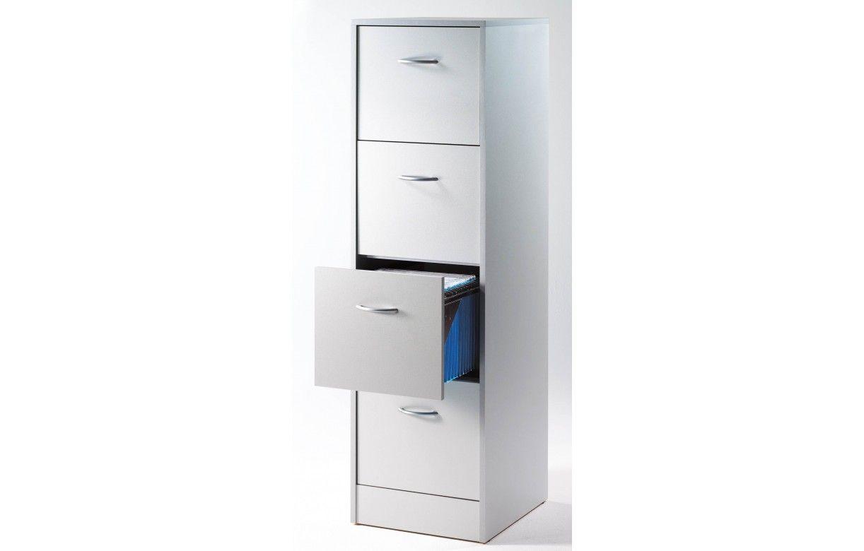 Meuble de bureau 4 tiroirs pour dossiers suspendus for Meuble a tiroir de bureau