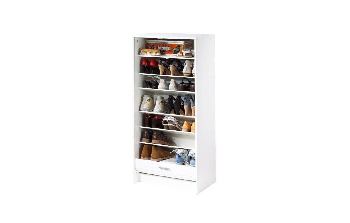 Rangement pour chaussures blanc ou noir à rideau 20 paires