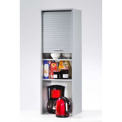 meuble de cuisine aluminium avec rangements rideau d roulant cooky decome store. Black Bedroom Furniture Sets. Home Design Ideas