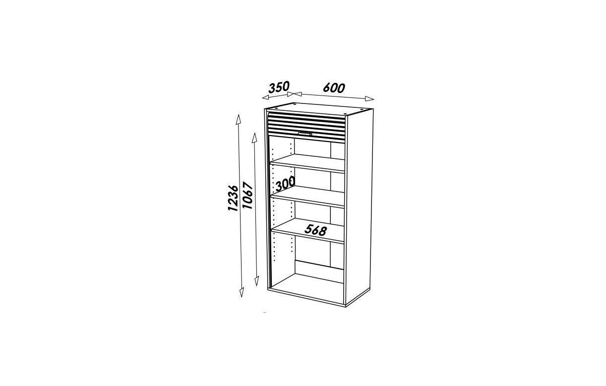 Rangement de cuisine aluminium avec rideau d roulant - Rangement pivotant element d angle ...