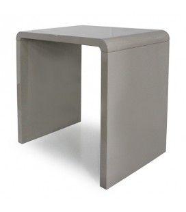 Console design laquée taupe noir ou blanc 70 cm