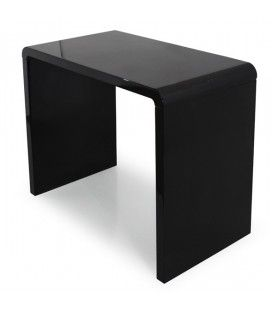 Console design laquée noire blanche ou taupe 90 cm