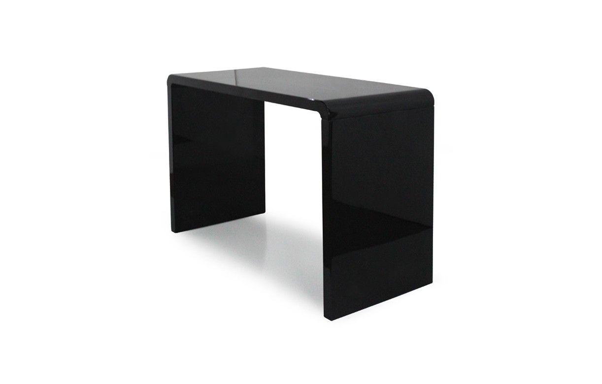console design laqu e blanche noire ou taupe 110 cm decome store. Black Bedroom Furniture Sets. Home Design Ideas