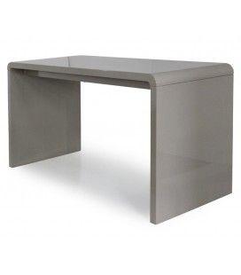 Console design ou Bureau laqué taupe, noir ou blanc 140 cm