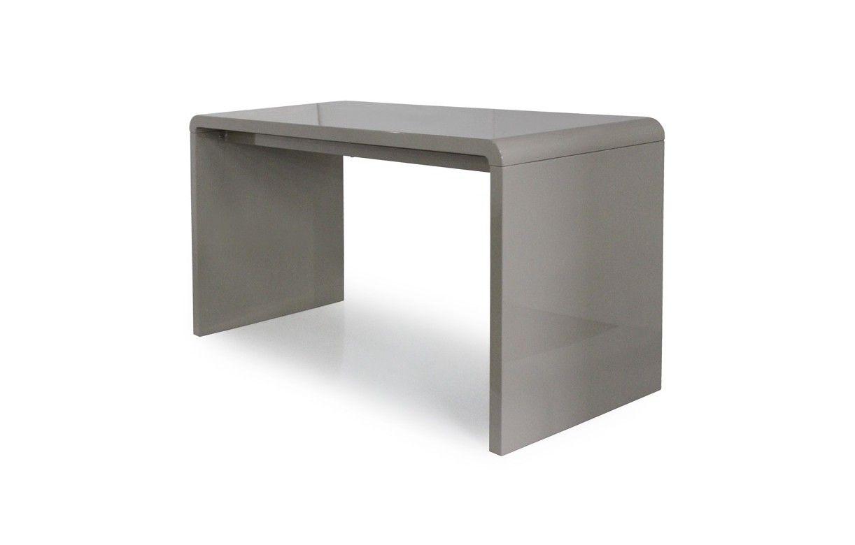 Console design ou bureau laqu taupe noir ou blanc 140 cm for Bureau noir et blanc