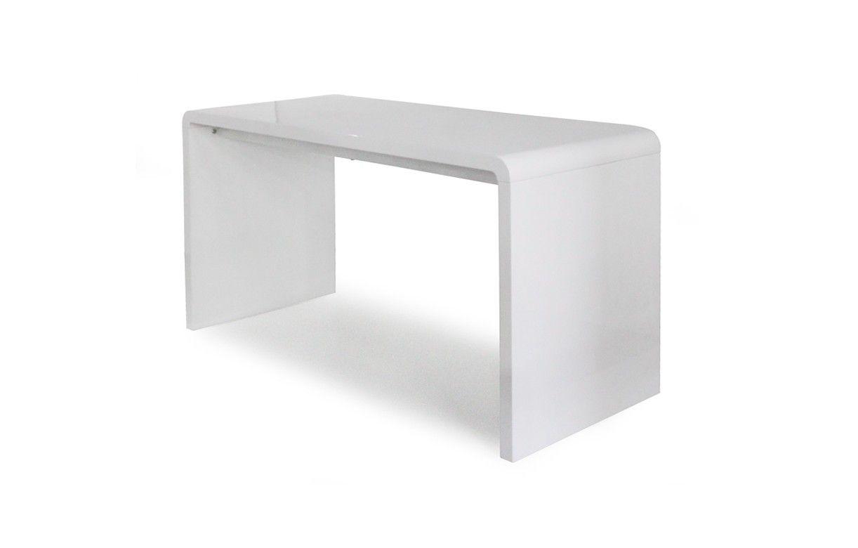 Assez Bureau laqué blanc bureau teck | Lepolyglotte TQ68