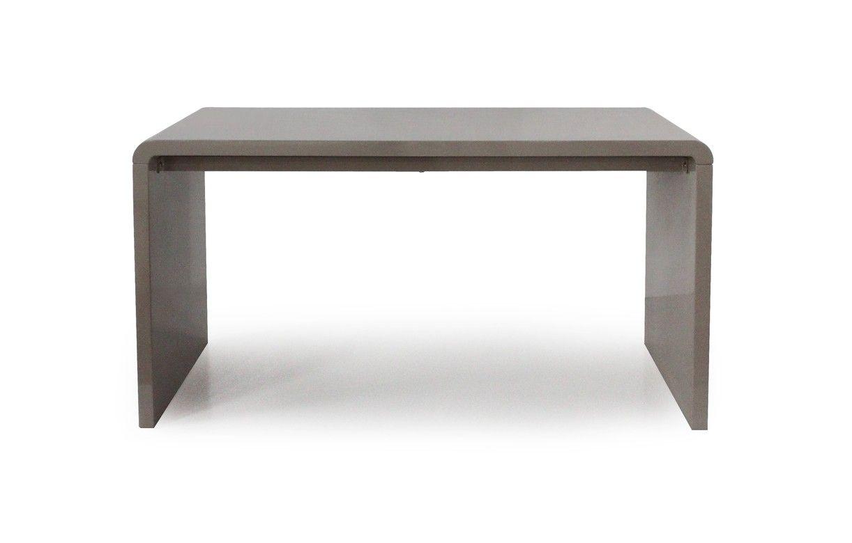 console design ou bureau laqu taupe noir ou blanc 140 cm. Black Bedroom Furniture Sets. Home Design Ideas