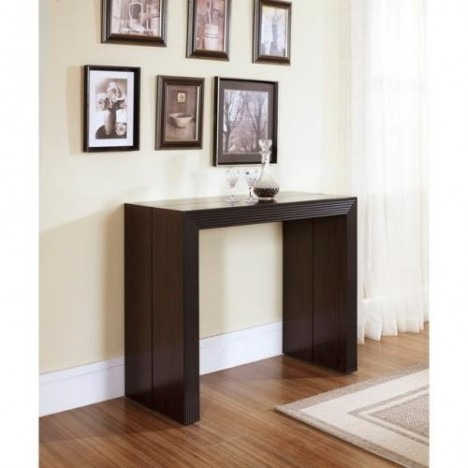 table console extensible laqu e weng 185 cm 3 rallonges decome store. Black Bedroom Furniture Sets. Home Design Ideas