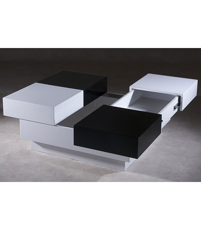 table basse florida noir et blanc. Black Bedroom Furniture Sets. Home Design Ideas