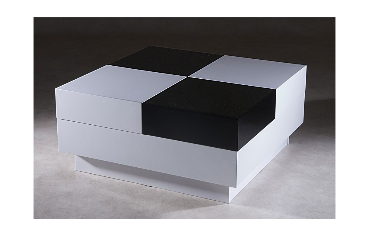 table basse laquee blanc avec rangement. Black Bedroom Furniture Sets. Home Design Ideas